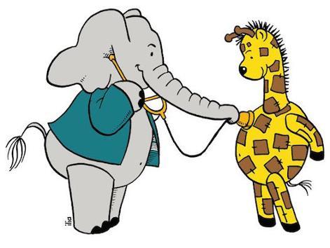 Giraf doktersbezoek
