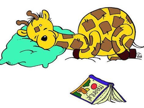 Giraf slapen