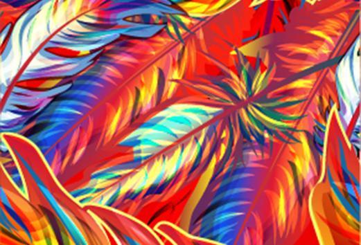 Gekleurde veren