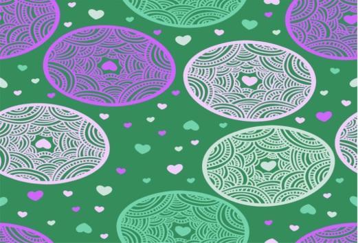 Hartjes Paars Groen Wit